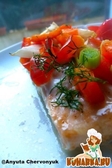 Рецепт Маринованный и запечёный лосось.