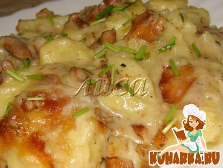 Рецепт Картофельная запеканка с лисичками