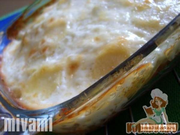 Запеканка из картофеля и рыбных палочек