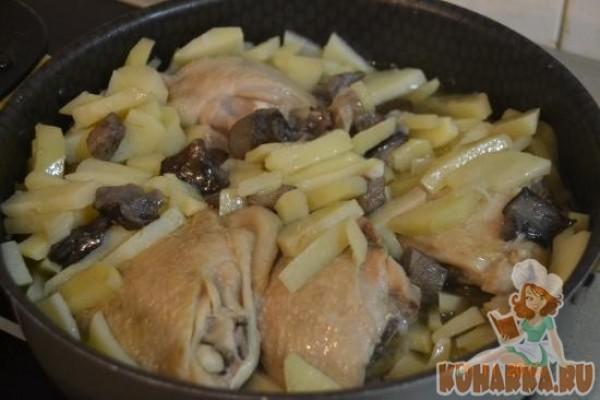 Курица с картошкой в кастрюле рецепт с фото