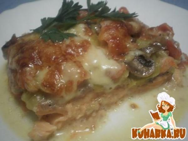 Форель с грибами и сыром в духовке рецепт с фото
