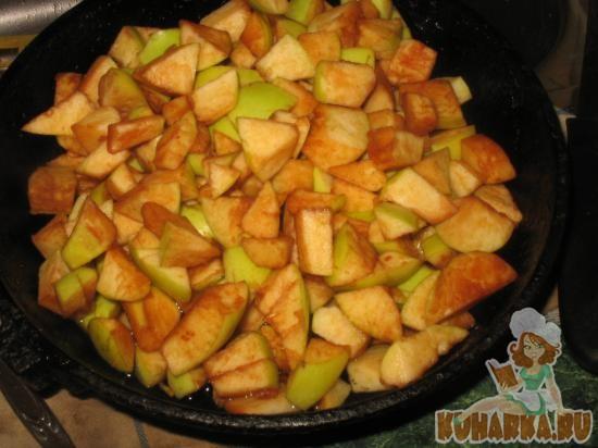 запеканка пшенная с яблоками
