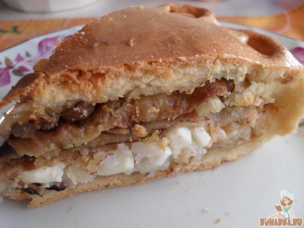 Курник на кефире рецепт с фото