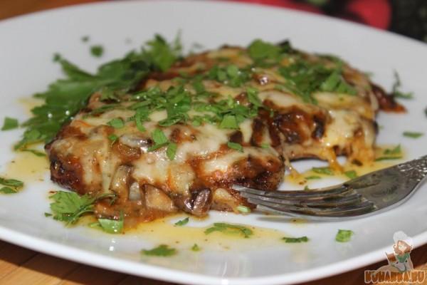 Свиные отбивные под грибным соусом - рецепт пошаговый с фото